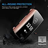 CAVN Compatible with Fitbit Charge 3 Screen Protector Case [2-Pack], Chargeable Protective Case Bumper Flexible TPU Slim Full Protection Shatter-Resistant Shock-proof Screen Case Cover