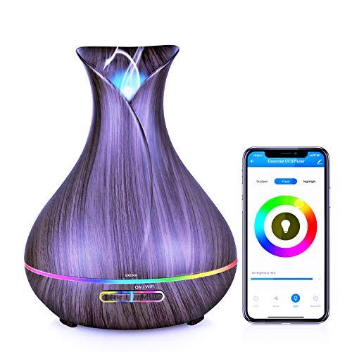 Humidificador Ultrasónico con Alexa echo, 400ml Difusor de Aromaterapia con google home integrado...