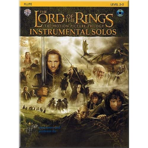 The Lord of the Rings Instrumental Solos Flute Sheet Music 1