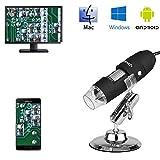 Microscopio endoscopio 3 en 1 Digital 1000x microscopio USB Electronica portatil con PC Video Mini cámara 8 LED y Metal Soporte para movil