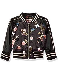 Urban Republic Baby Girls Poly-Sateen Jacket, Black/Black, 24M