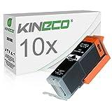 10 Tintenpatronen Kompatibel zu PGI-550XL für Canon Pixma MX925 All-in-One, Pixma iP7250, Pixma MG5650, Pixma MG7550, MG6450, MG6650, MG7150 - PGI550 - Schwarz je 23ml