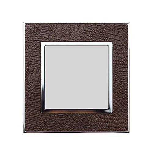 Preisvergleich Produktbild Wallpad Echt Leder Zink Legierung Panel Wandleuchte Schalter,  Steckdose,  Sockel,  Step Light Ground Light Panel