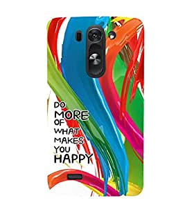 Fabcase paint strokes abstract art self healing be happy Designer Back Case Cover for LG G3 Beat Dual :: LG D722K :: LG G3 Vigor :: LG D722 D725 D728 D724