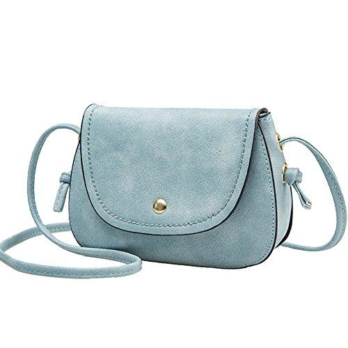 DFUCF Damen PU Büro Umhängetasche Beruf Kuriertasche Handtasche Mode Lässig Robust Party Aktivität Blue