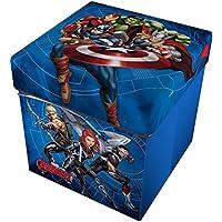 Star Licensing Marvel Avengers - Puf contenedor con cojín, poliéster,, ...