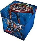 Star Licensing Marvel Avengers Pouf Contenitore con Cuscino,, 32x32x32 cm