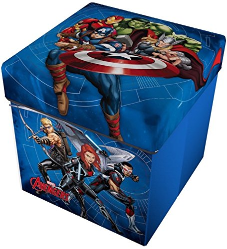 Star Licensing Marvel Avengers Ottomane mit Kissen, Polyester, Mehrfarbig, 32x 32x 32cm -