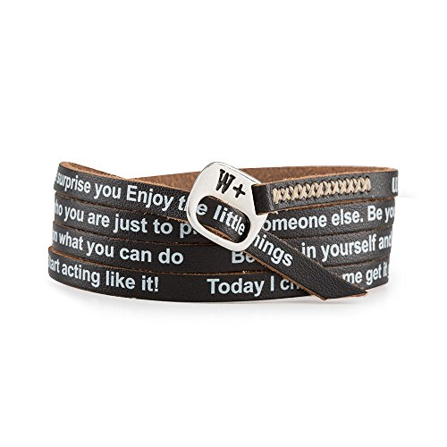 WE POSITIVE SPECIAL BLACK FRIDAY 20% OFF ARMBAND MOTIVATIONAL ENG COL. NERO