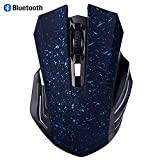 Bluetooth Mouse, EONANT 3.0 Portable Maus mit Wiederaufladbare Wireless USB Maus Leise und Ruhig Click für Notebook, PC, Laptop, Computer, Windows / Android Tablet, Macbook (Blue Snow)