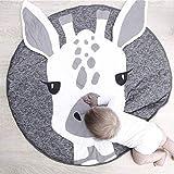 Nordic Ideas Tapis de Jeu Bebe Animaux Girafe Coton Rond Tapis éveil Bébé Fille Garçon Decoration Chambre Enfant...