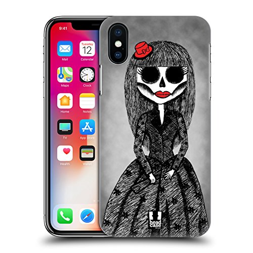 Head Case Designs Rosa E Piume Bozze Di Bambole Gotiche Cover Retro Rigida per Apple iPhone X Cappello Di Arco