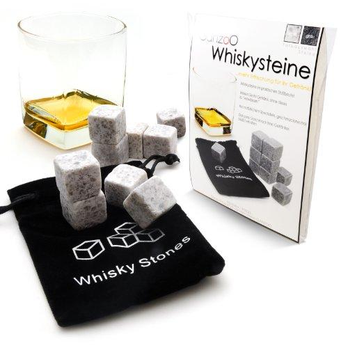 9er SET Whisky-Steine aus natürlichem Speckstein für Getränke