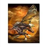 WUHOS DIY digitales ölgemälde by Zahlen Adler pferdebilder handgemalte Zeichnung abstrakte Tier färbung leinwand wandkunst wohnkultur 40x50 cm