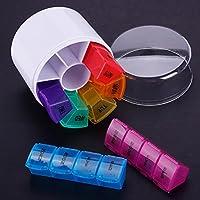 Kinbelle Runde Form 28SLOT Pillendose 7Tage Box Medizin Storage Tablet Sortiermaschine Container preisvergleich bei billige-tabletten.eu