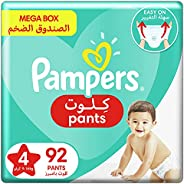 Pampers Pants, Size 4, Maxi, 9-14 kg, Mega Box, 92 Diapers