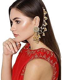 YouBella Golden Plated Jhumkis Earrings for Women (Golden)(YBEAR_32070)