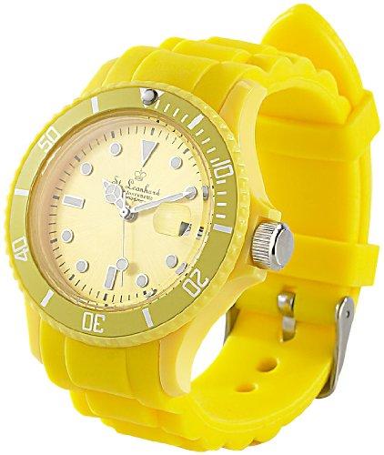 Band Herren-uhren-elastisches (ST. Leonhard nc7162–944–Armbanduhr, Silikonarmband Farbe Gelb)
