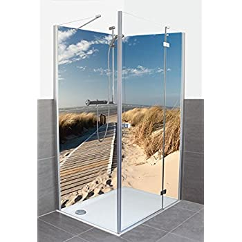artland dusche bad rckwand wandverkleidung aus aluminium verbund platte motiv eva gruendemann nordseestrand auf langeoog - Aluminium Ruckwand Dusche 2