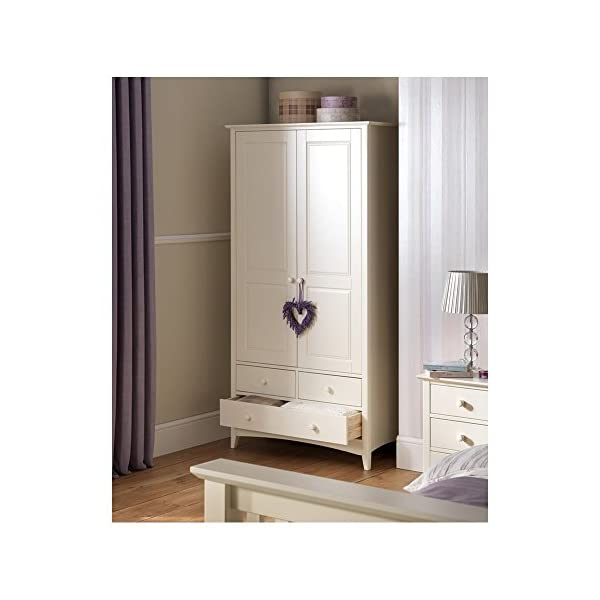 Julian Bowen cameo childrens combination wardrobe in stone white finish Julian Bowen Brilliant sturdy design Fits brilliantly with Kids Cabin beds. Three spacious drawers. 1