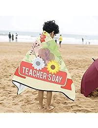 Feliz Maestro Día de agradecimiento con la letra Suave algodón cálido Mezclado niños se visten con capucha Manta portátil Toallas de…