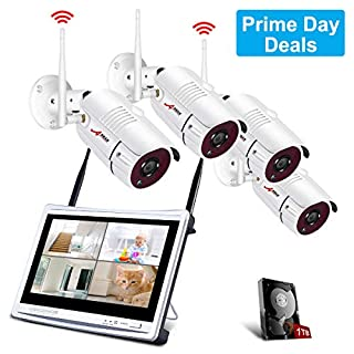 All-in-1 Wireless Security Camera System with 12