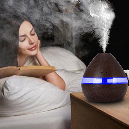 Luft Aroma ätherisches Öl Diffusor LED Ultraschall Aromatherapie Luftbefeuchter (Beste Aromatherapie-luftbefeuchter)