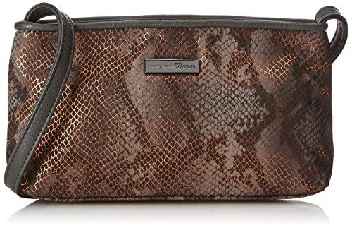 Snake-clutch (Tom Tailor Denim Damen Mila Snake Clutches, Grau (Stone 72), 24x13x6 cm)