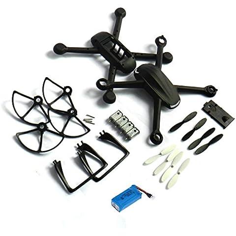 Yacool ® Crash Paquete Repuestos Nighthawk Dm007 Spy Exploradores Rc Quadcopter-- Negro