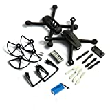 Yacool ® Crash Confezione Ricambi Nighthawk Dm007 Spy Explorers Rc Quadcopter-- nero
