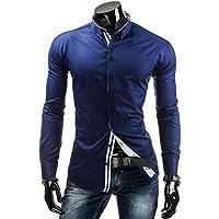 YUYU Camicie uomo manica lunga Casual senza tag solido Comfort
