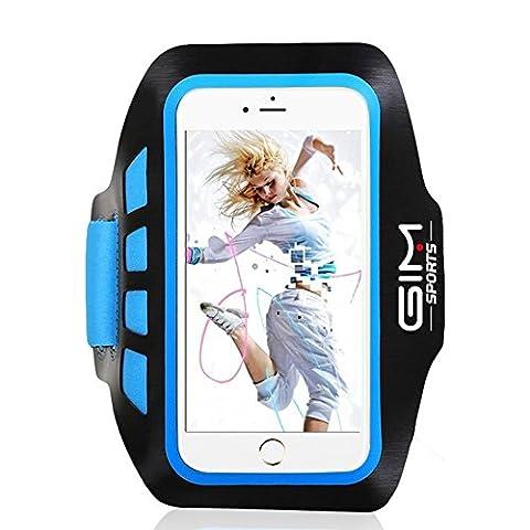 GIM Brassard de Sport Running Gym Course Fitness Sangle Réglable Armband Anti-Sueur Etui Sac Universal pour Téléphone 4.8'' à 6'' iphone 6 Plus 6S Plus samsung S6 edge Plus S7 S7 EDGE Note 5 Note 4 Huawei Sony LG Xiaomi ASUS Coque