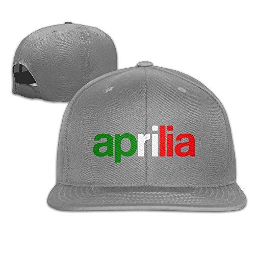 feruch Caca Aprilia Logo and Italia Flag Snapback Hats/Gorra De Béisbol Hats/Peaked Ash