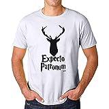 Movoo Design T Shirt Maglia in Cotone - Patronum (L, Bianco Uomo)