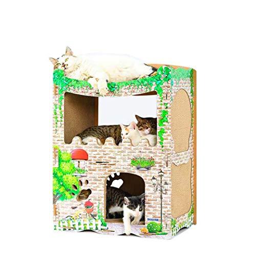 Nombre del producto: marco de escalada BungalowEspecificaciones del producto: 53.5 * 33.5 * 71 cmPeso después del empaque: 4.2KGTamaño de la caja externa: 56 * 16 * 73.5 cmMaterial del producto: papel corrugadoAdecuado para grupos: gatos recomendados...