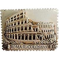 Weekinglo Souvenir Imán de Nevera Coliseo Roma Roma Italia Italia Resina 3D Artesanía Hecha A Mano
