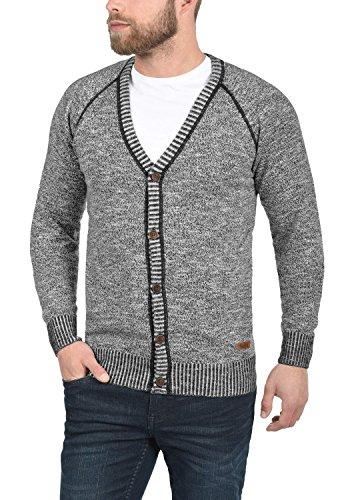 SOLID Thiamin Herren Strickjacke Cardigan mit V-Ausschnitt aus 100% Baumwolle Black (9000)