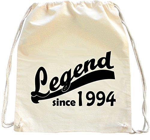 Mister Merchandise Zaino Borsa Sacco Legend since 1994 21 22 , Colore: Naturale