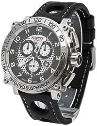 Formex 4 Speed 97801.3040 - Reloj de caballero de cuarzo, correa de piel color negro