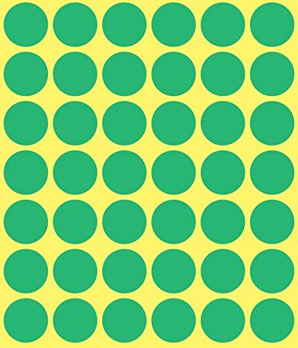 Avery 3376 Círculo Verde 1056pieza(s) - Etiqueta autoadhesiva (Verde, Círculo, Papel, 1,8 cm, 48 pieza(s), 1056 pieza(s))
