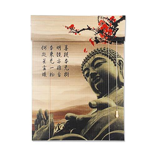 XIANWEI Rollos und Jalousien, Rollladen Bambus Side Pull Halbverdunkelung Vorhang Filter Jalousien Fenster Schatten 50% (Color : C, Size : 100x220)
