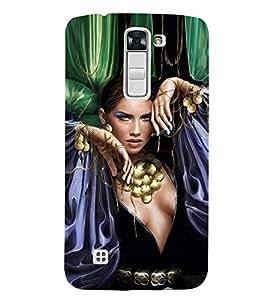 EPICCASE Loevly lady Mobile Back Case Cover For LG K7 (Designer Case)