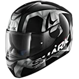 SHARK Casque Moto Skwal Trion KUA, Noir/Blanc, Taille XS