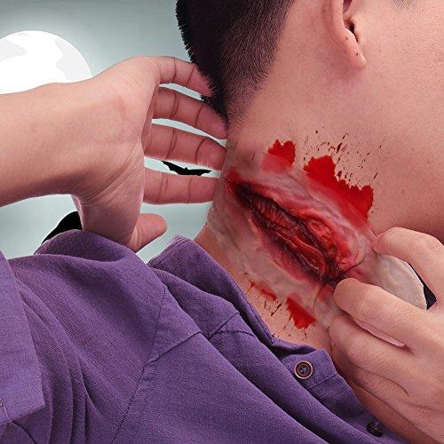 Latex Blutige Narben Scherzartikel Horror (Blutige Halloween-make-up)