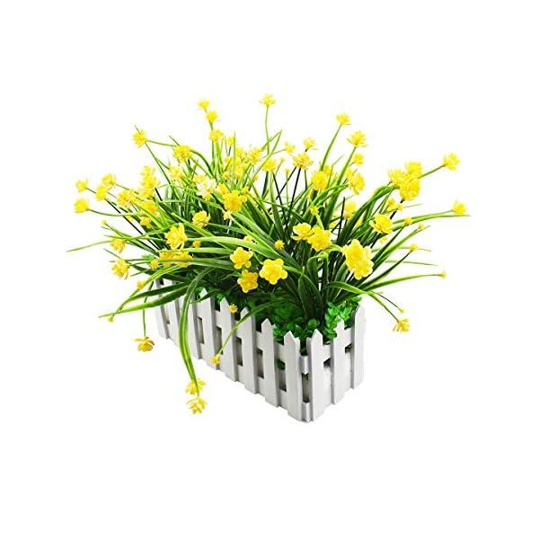XONOR – Flores Artificiales para Exteriores – Resistente a los Rayos UV – Verduras Falsas en Valla, Maceta, para Ventana…
