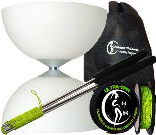 borsa. Rocchetto da 10m Filo Diabolo Ultra-Spin con Bacchette Carbonio Per Diablo Set Diabolo Henrys CIRCUS Verde