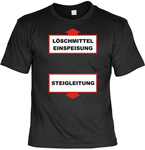 Bier Alkohol Sprüche Fun T-Shirt & Spassurkunde in schwarz Löschmittel Einspeisung Schwarz
