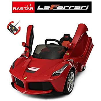 ricco 82700 red genuine la ferrari kids 12 v electric ride on car with mp3 and remote control red