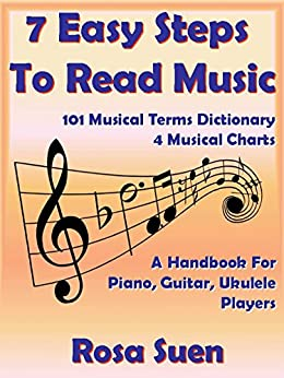 How To Read Music - 7 Easy Steps to Read Music  For Beginners & 101 Musical Terms Dictionary with 4 Musical Charts: Read Music (Piano & Guitar Players) (English Edition) von [Suen, Rosa]