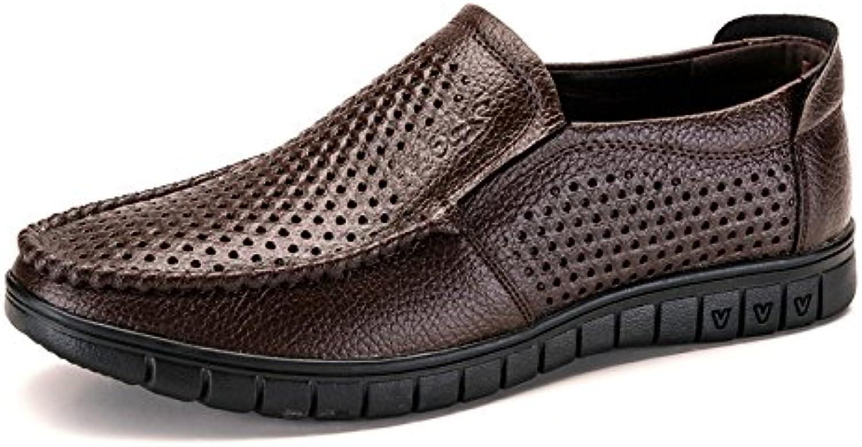 NBWE Beiläufige Schuhe der Männer Atmungsaktive Hohle Schuhe Loch Weichen Boden Papa Sandalen